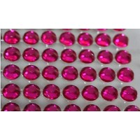 Self-adhesive crystals 4 mm pink - 0014 Emb